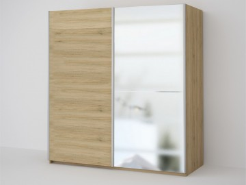 ECO 200 2DL šatní skříň se zrcadlem sonoma