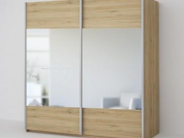 ECO 200 2D2L šatní skříň se zrcadlem sonoma