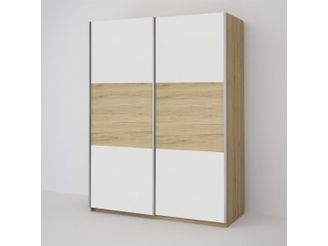 ECO 150 2D šatní skříň bílá/sonoma