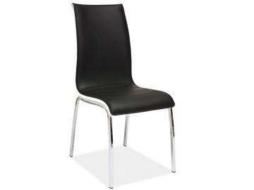 Jídelní čalouněná židle H-135 černá/bílá