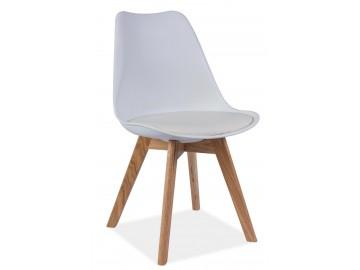 Jídelní židle KRIS bílá