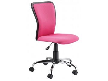 Kancelářská židle Q-099 růžová/černá