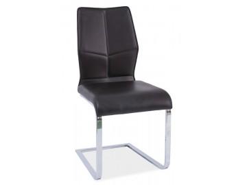 Jídelní čalouněná židle H-422 černá/bílý lak