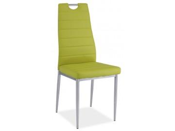 Jídelní čalouněná židle H-260 zelená/chrom