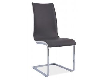 Jídelní čalouněná židle H-133 šedá/bílá