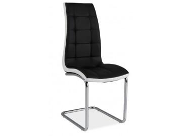 Jídelní čalouněná židle H-103 černá/bílá