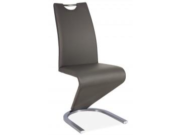 Jídelní čalouněná židle H-090 šedá/ocel