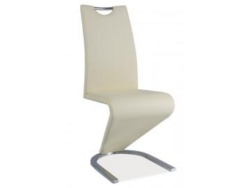 Jídelní čalouněná židle H-090 krémová/chrom