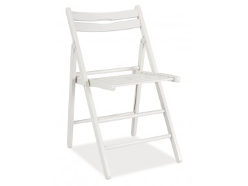 Dřevěná skládací židle SMART bílá