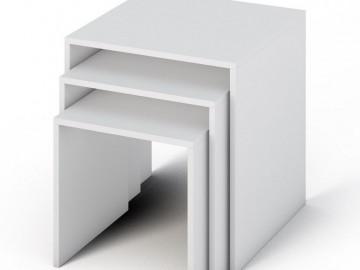 Sestava konferenčních stolků SIMPLE bílá