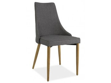 Jídelní čalouněná židle SAND šedá/buk
