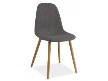 Jídelní čalouněná židle RUBI šedá/buk