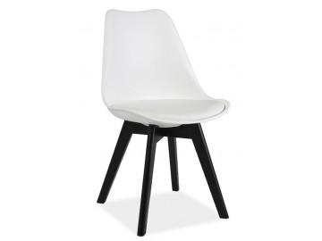 Jídelní židle KRIS II bílá/černá