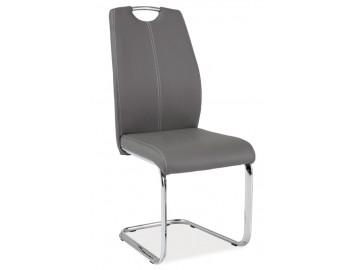 Jídelní čalouněná židle H-664 šedá