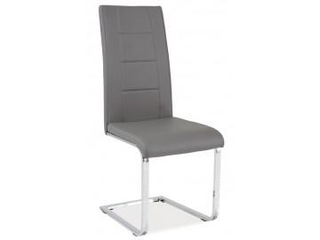 Jídelní čalouněná židle H-629 šedá
