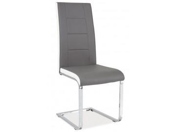 Jídelní čalouněná židle H-629 šedá/bílé boky