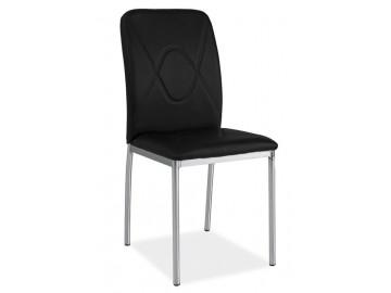 Jídelní čalouněná židle H-623 černá/chrom