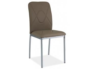 Jídelní čalouněná židle H-623 tmavě béžová/chrom