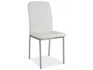 Jídelní čalouněná židle H-623 bílá/chrom
