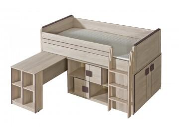 GIMMI G19 patrová postel (komplet G15 + G17) hnědá