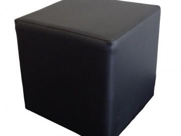 Taburet KUBA ekokůže černá