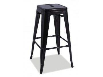 Barová židle LONG černá mat