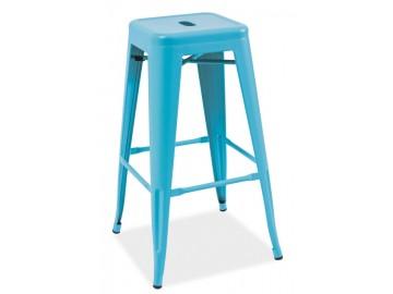Barová židle LONG modrá