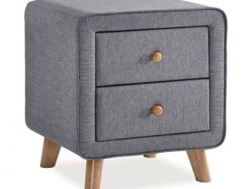 Noční stolek MALMO šedý