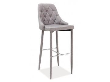 Barová čalouněná židle TRIX šedá