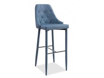 Barová čalouněná židle TRIX denim