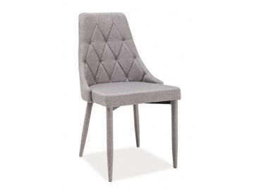 Jídelní čalouněná židle TRIX šedá