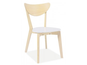 Jídelní židle CD-19 bílá/dub