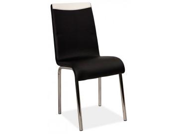 Jídelní čalouněná židle H-161 černá/bílá