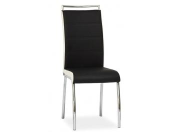 Jídelní čalouněná židle H-442 černá/bílá