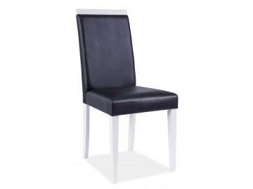 Jídelní čalouněná židle CD-77 bílá/černá