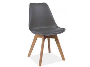 Jídelní židle KRIS šedá