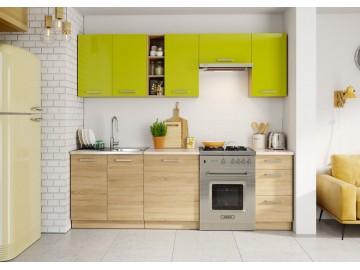 Kuchyně LENA 240 zelená/sonoma
