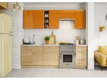 Kuchyně LENA 240 oranžová/sonoma