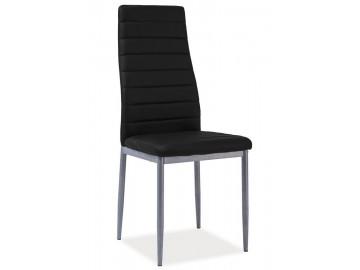 Jídelní čalouněná židle HRON-261 černá/alu