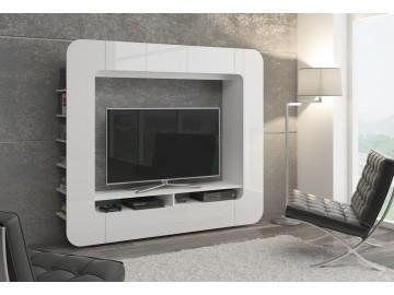 Obývací stěna MEDIO WEISS bílá