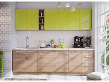 Kuchyně na míru LENA sonoma/zelená lesk