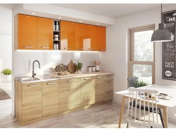Kuchyně na míru LENA sonoma/oranžová lesk