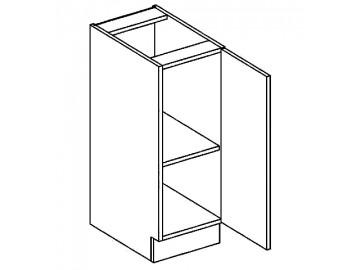 D30 dolní skříňka pravá PAULA šedá/mocca