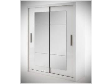 Šatní skříň IDEA bílá zrcadlo