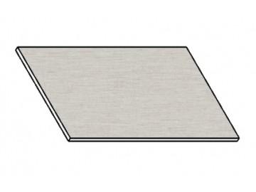 Kuchyňská pracovní deska 80 cm aluminium mat