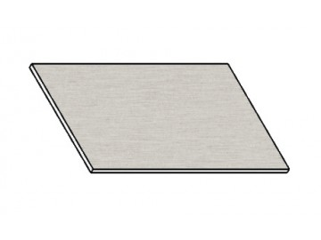 Kuchyňská pracovní deska 50 cm aluminium mat