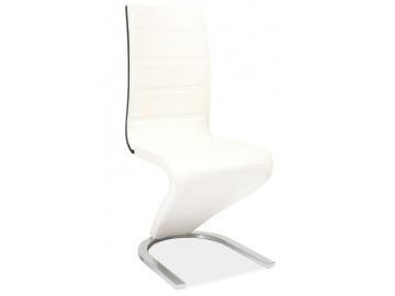 Jídelní čalouněná židle H-134 bílá/černá