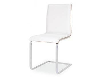 Jídelní čalouněná židle H-690 bílá/dub sonoma