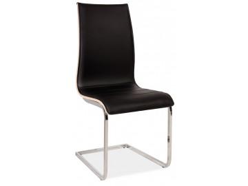 Jídelní čalouněná židle H-133 černá/dub sonoma