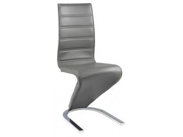 Jídelní čalouněná židle H-669 šedá/bílá